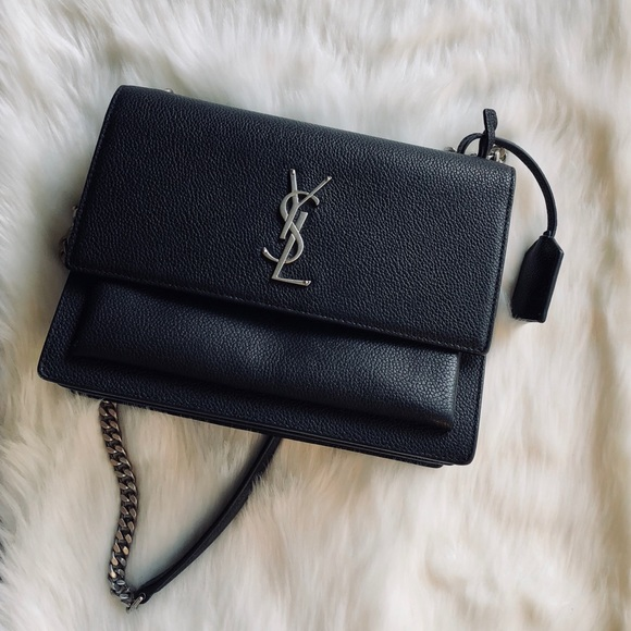 🎀Sale🎀YSL sunset monogram chain leather bag. M 5bc3b58e9fe4862d94ac09c0 e3f4bdf7aa553